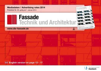 Fassade Technik und Architektur