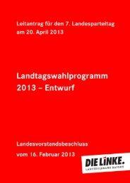 Das Programm - digital! - Die Linke. Bayern