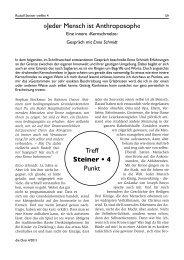 Jeder Mensch ist Anthroposoph« Treff Steiner • 4 Punkt - Die Drei