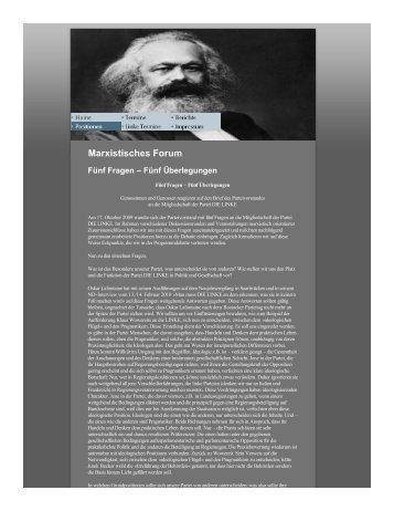 Marxistisches Forum - Die Linke. Kreisverband Barnim