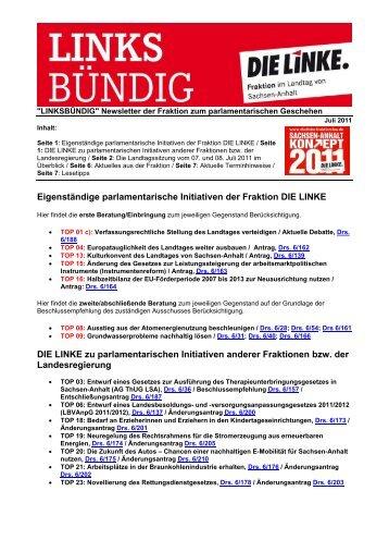 1107_newsletter - Die Linke. - Landtagsfraktion Sachsen-Anhalt