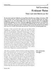 Krakauer Reise. Polen nach dem Beitritt zur EU - Die Drei