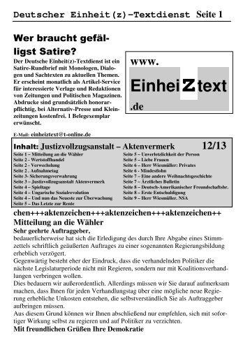 Deutscher Einheit(z)-Textdienst Seite 1 - Die Linke NRW
