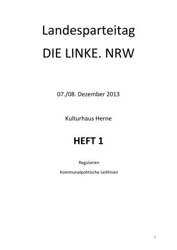 Heft 1 - Die Linke NRW