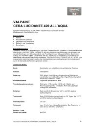 VALPAINT CERA LUCIDANTE 420 ALL´AQUA - Diessner