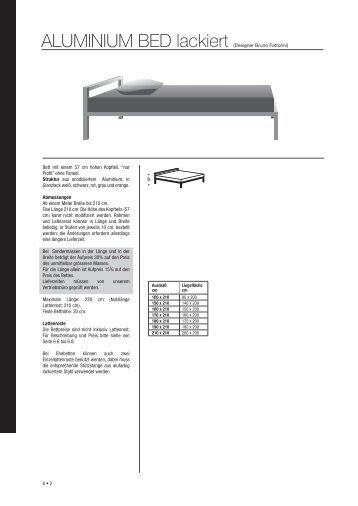 6 • 2 ALUMINIUM BED lackiert (Designer Bruno Fattorini) Bett mit ...