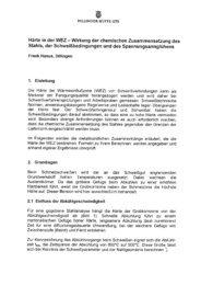 Härte in der WEZ — Wirkung der chemischen Zusammensetzung des