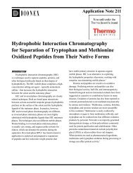 Hydrophobic Interaction Chromatography for Separation of ... - Dionex