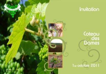 Invitation Coteau des Dames - Administration Communale de Dippach