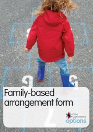 Family-based arrangement form - Gov.uk