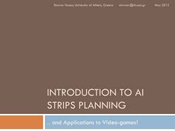 INTRODUCTION TO AI STRIPS PLANNING