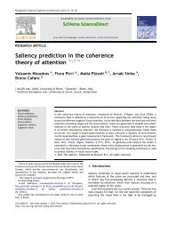 Saliency prediction in the coherence theory of attention - Sapienza
