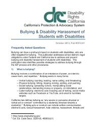 Bullying & Disability Harassment of Students with Disabilities