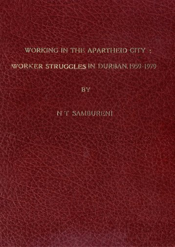 worker struggles in Durban, 1959-1979 - DISA