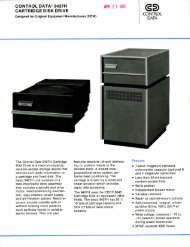 CONTROL DATA® 9427H CARTRIDGE DISK DRIVE