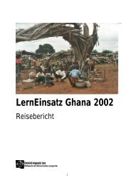 LernEinsatz Ghana 2002 - Reisebericht