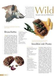 Bruschetta Involtini mit Pesto