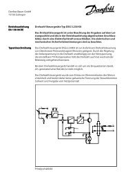 Drehzahl-Steuergeräte Typ DSG 3.230 KA Das ... - Bauer Gear Motor