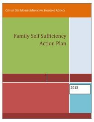 Family Self Sufficiency Action Plan - City of Des Moines