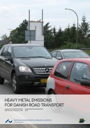 Heavy Metal Emissions for Danish Road Transport