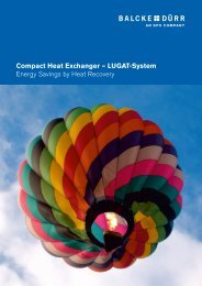 Compact Heat Exchanger – LUGAT-System Energy ... - Balcke-Dürr
