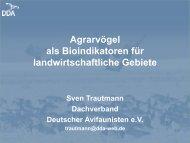 Agrarvögel als Bioindikatoren für landwirtschaftliche Gebiete - DO-G