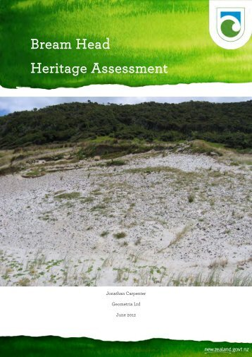 Bream Head heritage assessment - Department of Conservation