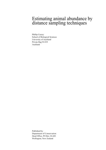 Estimating animal abundance by distance sampling techniques