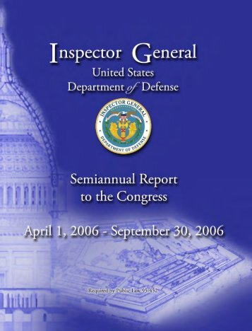 Report to the Congress - DoD Inspector General