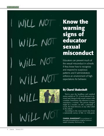 Know the warning signs of educator sexual misconduct - Virginia ...
