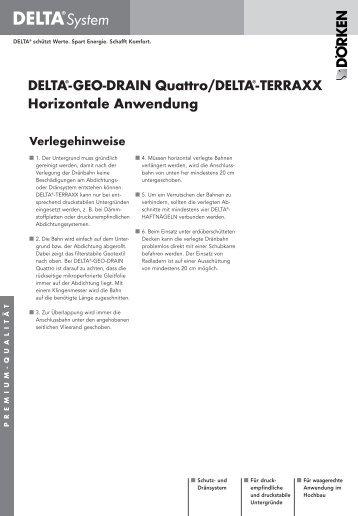 Verlegehinweise und Ausschreibungstexte DELTA®-GEO-DRAIN ...