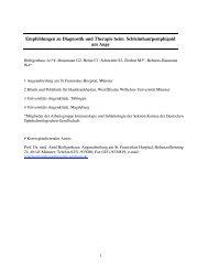 Empfehlungen zu Diagnostik und Therapie beim ... - DOG
