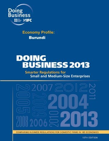 Economy Profile: Burundi - Doing Business