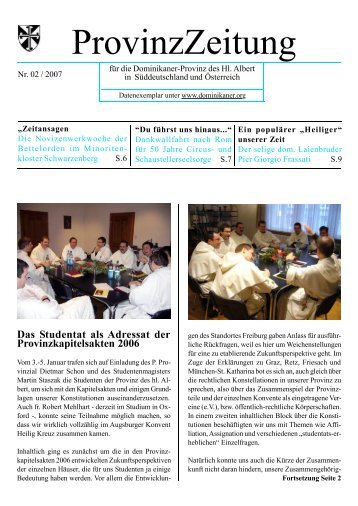 Nr. 1/2-2007 - DOMINIKANER.ORG