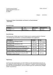 Nachstehenden Änderungen bei der Vertretung der ... - Stuttgart