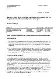 Überprüfung der Wirtschaftlichkeit der Stuttgarter Abfallwirtschaft ...