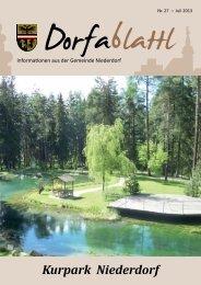 Ausgabe 27 - Download .pdf ca. 3,5MB - Dorfablattl