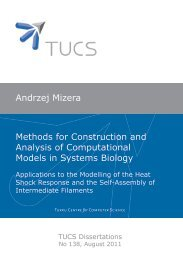 Andrzej Mizera Methods for Construction and Analysis of ... - Doria