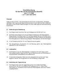 Geschäftsordnung für den Rat und die Ausschüsse - Stadt Dormagen