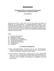 Ordnungsbehördliche Verordnung zur ... - Stadt Dormagen