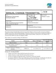 Manual Change Transmittal 13-16 - Caltrans - State of California