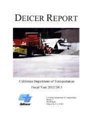 District 3 Deicer Report, FY 2012 - 2013 - Caltrans
