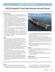 CVN 78 Gerald R. Ford Class Nuclear Aircraft Carrier - DOT&E