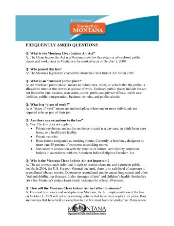 frequently asked questions - Department of Public Health & Human ...