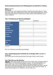 Protokoll der Diözesankonferenz im Herbst 2012 als PDF