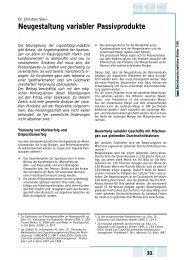 Neugestaltung variabler Passivprodukte - Dr. Sievi