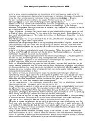 Gitte Adelgaards prædiken 1. søndag i advent 2008 Vi hørte før ... - DR