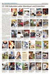 22 200 Sekunden voller Abenteuer und Einsichten - Drehscheibe