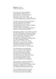 Odysseus - Ulysses Alfred Lord Tennyson Was soll es, dass ich leer ...