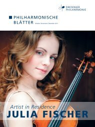Oktober - Dezember 2013 (PDF 5,6 MB) - Dresdner Philharmonie